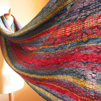 Handwoven Shawl - First Snow - Soft and Cozy - handwoven scarf -