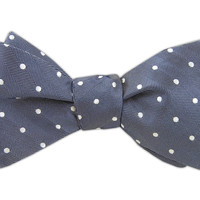 Textile Dots - Washed Blue (DWade Bow Ties) from TheTieBar.com - Wear Your Good Tie Everyday