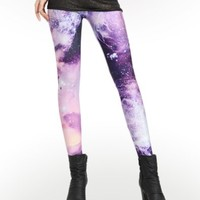 Purple Galaxy Galaxy Leggings : Comfortable Legging Pants