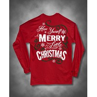 Sweet Thing Have Yourself a Merry Little Christmas Xmas Snowflake Girlie Long Sleeve Bright T-Shirt