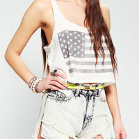 Truly Madly Deeply Flag Cropped Tank Top