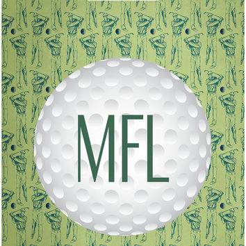 Vintage Personalized Golf Bag Tags. Great Golfer Birthday or Groomsmen gifts. Monogram or Full Name. Golf bag or Diaper Bag tag.