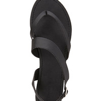 Asymmetrical Thong Sandals