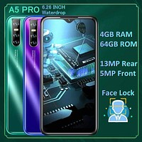 "Original Android A5 Pro Cellphones 4GRAM+64GROM 6.26"" WaterDrop 540*1140 13MP celulares mo..."