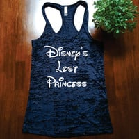 Disney's Lost Princess. BURNOUT Tank Top. Racer Back. Cute Tank. Workout Tank Top.