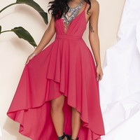 Bombshell Maxi Dress Hot Pink
