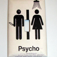 Light Switch Cover - Light Switch Plate Psycho Alfred Hitchcock