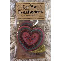 Heart Car Air Freshener- Rose