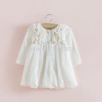 2016 hot sale IDEA Autumn cotton Kids clothes newborn Girls indant dress baby clothing baby girls dress vestido infantil