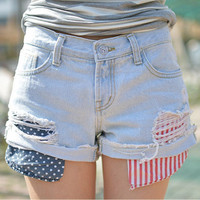 Women Floral Printed Sexy Floral Printed Jeans Nightclub Clubbing Party Erotic Jeans Denims Shorts Trousers Pants _ 8197
