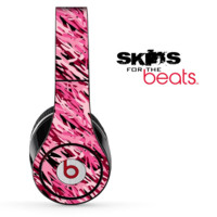 Abstract Pink Camouflage V6 Skin for the Beats by Dre Solo, Studio, Wireless, Pro or Mixr