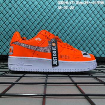 DCCK2 N087 Nike Air Force 1 Low Retro Just Do It Breathable Causal Skate Shoes Orange