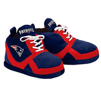 NFL New England Patriots 2015 Sneaker Slipper, Large, Blue
