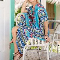Printed Casual Fashion Dress Robe Beach Skirt Dress