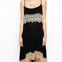 Free People Cami Slip Dress with Lace Detail