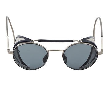 Thom Browne Grey And Navy Tb-001 Cage Sunglasses