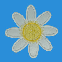 Large Daisy Iron-On Patch