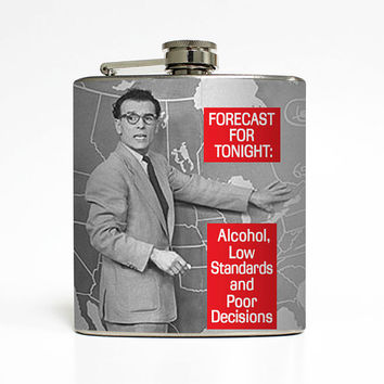 Alcohol Flask Liquid Courage Low Standards Poor Decisions Groomsmen Guys 21st Birthday Gift Stainless Steel 6 oz Liquor Hip Flask LC-1457