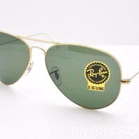 Cheap Ray Ban 3026 Large Aviator II Gold L2846 62 New Authentic Made In Italy outlet