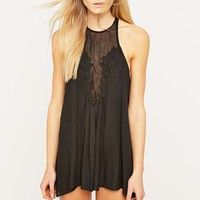 Out From Under Dolly Black Applique Playsuit - Urban Outfitters