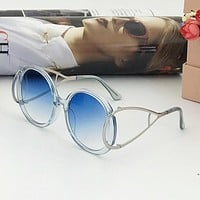 Chloe Trending Women Men Stylish Casual Sun Shades Eyeglasses Glasses Sunglasses Blue I-A-SDYJ