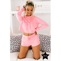 Dressed To Chill French Terry Two Piece Set (Pink)
