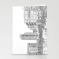 Clarence Dock Leeds Drawing Stationery Cards by Karl Wilson Photography