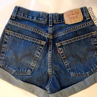 Natural. ANY SIZE Vintage High Waisted Denim Shorts