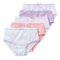 5-Pack Tagless 100% Combed Cotton Panties