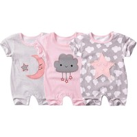 Summer  baby rompers Short sleeve Newborn Infant Baby Boy Girl clothes Cute Cartoon Printed Jumpsuit Climbing Clothes