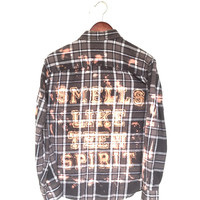 "Nirvana Plaid Shirt in Grey Flannel, ""Smells Like Teen Spirit"""