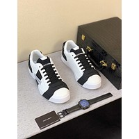 Dolce&Gabbana Men Fashion Boots fashionable Casual leather Breathable Sneakers Running Shoes-10
