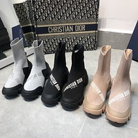 DIOR Stretch Knit Boots