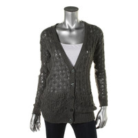 Sun & Shadow Womens Knit Open Stitch Cardigan Sweater