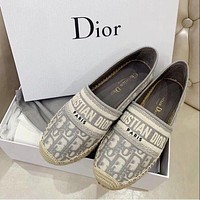 Dior CD Dior Granville Muller fisherman shoes fashion ladies flat shoes
