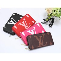 LV Louis Vuitton Newest Hot Sale Women Fashion Leather Zipper Wallet Purse