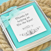 Bridesmaid Gift - Maid of Honor Gift - Infinity Knot Ring w/giftbox - Wedding Party - Wedding Jewelry - Bridesmaid Ring - Reef Knot