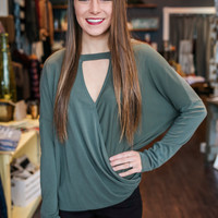 Commotion Top - Olive