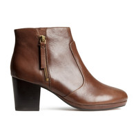 H&M - Leather Ankle Boots