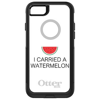DistinctInk™ OtterBox Commuter Series Case for Apple iPhone or Samsung Galaxy - I Carried A Watermelon