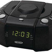 jensen - dual alarm clock am/fm stereo radio with top-loading cd player