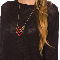 Beaded Love Necklace - Coral