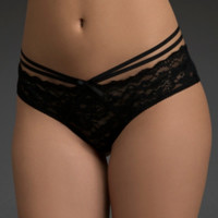 Cage Back Lace Cheeky Panty