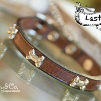 Tiny Brown Leather Collar