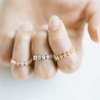 Cz star wrap knuckle ring,knuckle,anniversary ring, unique rings,wedding and engagement,,upper knuckle ring,midi ring,Star jewelry,SKD17
