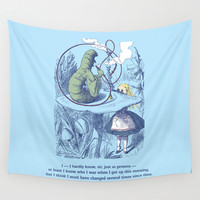Alice and the Caterpillar Wall Tapestry by Sarah Michelle Murphy