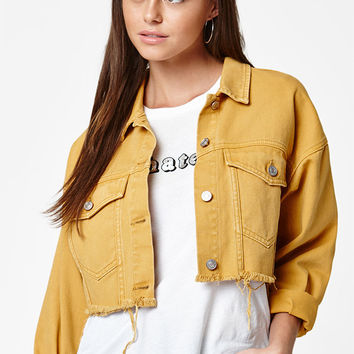 PacSun Colored Cropped Trucker Jacket at PacSun.com