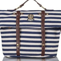 Naval Stripe Badge Shoulder Bag for Summer