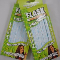 Sneak Alcohol with 5 Tampon Flasks and Sleeves - Bonus 2 Pack!