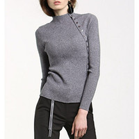 Fashion Tight Solid Color Knitwear